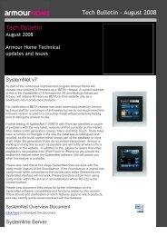 Tech Bulletin August 2008 - Armour Home Electronics