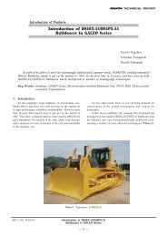 Introduction of D85EX-15/D85PX-15 Bulldozers in ... - Komatsu