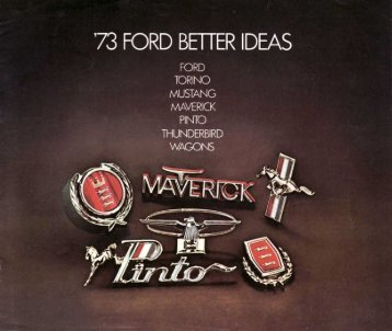 FORD TORINO MUSTANG MA\/ERICK PINTO - Mustangtek