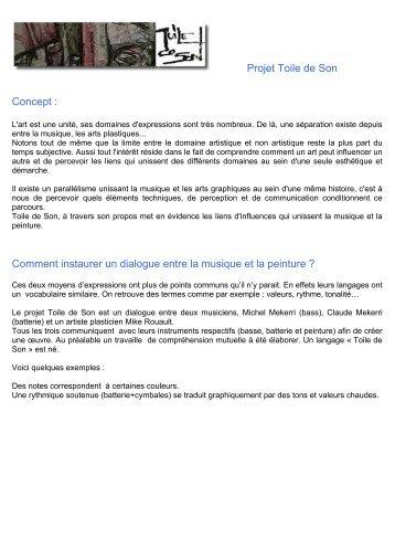 Projet Toile de Son Concept - Rouault, Mike - Free