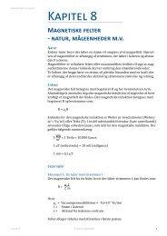Kapitel 8: Magnetfelter natur måleenheder - Dansk Energi