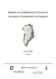 Rapport om mulighederne for fremme af ... - Farvandsvæsenet