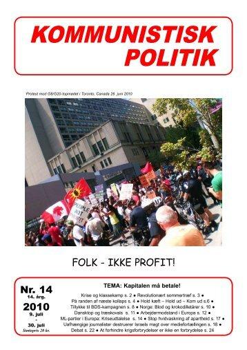 Kommunistisk Politik 14, 2010