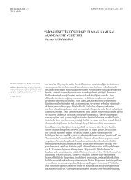 siyasi/estetik gösterge - Journal of the Faculty of Architecture