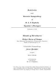 Beskrivelse over Baroniet Stampenborg - Skolen for livet — det ...