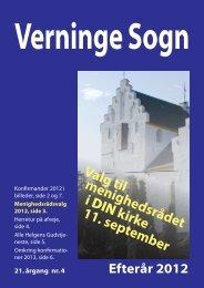 2012 Efterår Kirkeblad.indd - Verninge Kirke