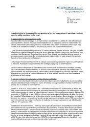 Notat om hovedindholdet af lovforslaget - Naturstyrelsen