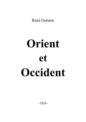 Orient et occident (1924 – pdf)