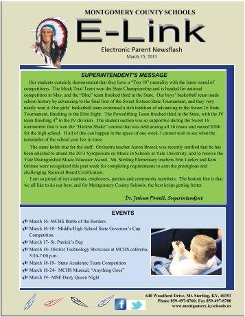 Electronic Parent Newsflash - Montgomery County Schools ...