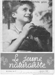 Le Jeune Naturaliste – Octobre 1957.