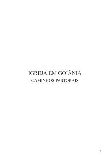 1 - IGREJA EM GOIÂNIA - Arquidiocese de Goiânia