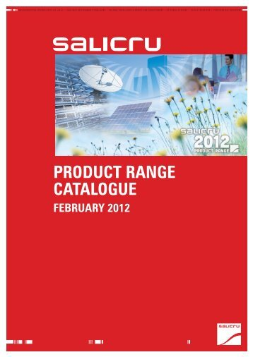 PRODUCT RANGE CATALOGUE - Salicru