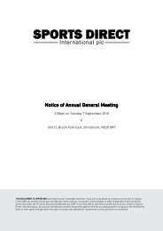 Sports Direct International plc Prospectus