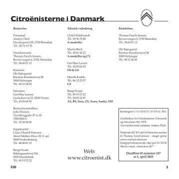 Attraction 246 - Citroënisterne i Danmark