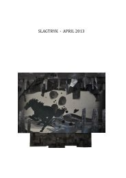 SLAGTRYK · APRIL 2013