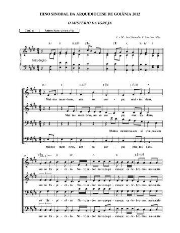 hino sinodal da arquidiocese de goiânia 2012 o mistério da igreja