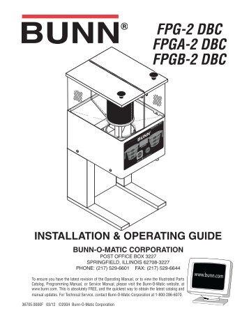 ultra 1 ultra 2 installation operating guide bunn o matic corporation rh yumpu com Resident Evil 4 U3 Yamaha U3 Piano