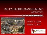 ISU FACILITIES MANAGEMENT An Overview