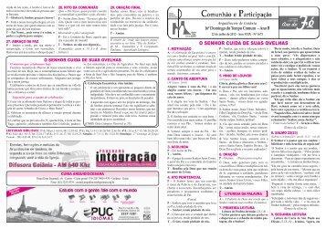 O SENHOR CUIDA DE SUAS OVELHAS - Arquidiocese de Goiânia