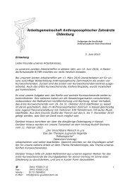 Arbeitsgemeinschaft Anthroposophischer Zahnärzte Oldenburg