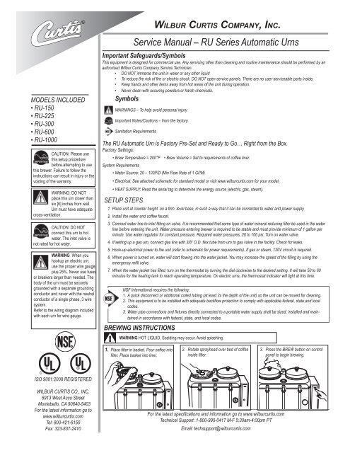 Assy 13 Use On Ru-225 Wilbur Curtis WC-2108 Gauge Glass