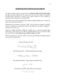 os bispos de goiás comunicam e esclarecem - Arquidiocese de ...