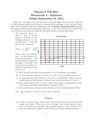 Physics 9 Fall 2011 Homework 4 - Solutions Friday September 16 ...