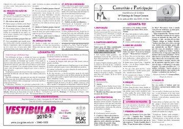 folheto liturgico_15.. - Arquidiocese de Goiânia