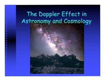 Doppler effect lecture slides
