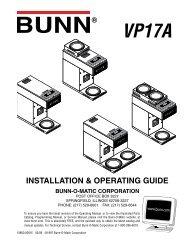 u3/sru installation & operating guide bunn-o-matic