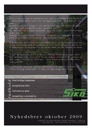 SIKO`s nyhedsbrev oktober 2009 - Næsby Idræts Forening
