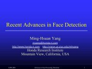 Recent Advances in Face Detection