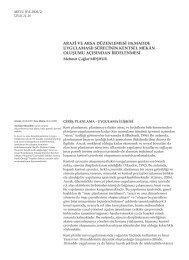 18.madde uygulaması - Journal of the Faculty of Architecture ...