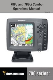 788c and 788ci Combo Operations Manual - Humminbird