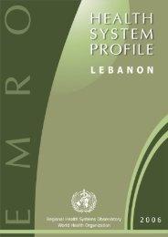 Lebanon : Complete Profile - What is GIS - World Health Organization