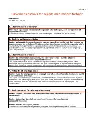 Sikkerheds-instruks for sejlads i naturskolens joller. - Samsø ...