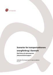 Scenarier for transportsektorens energiforbrug i Danmark - Ea ...