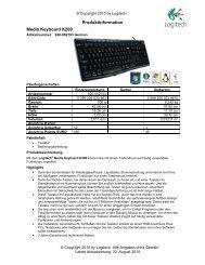 Logitech Media Keyboard K200 - Mercateo