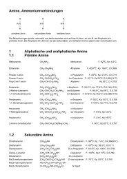 Amine, Ammoniumverbindungen 1 Aliphatische und ... - Aklimex.de