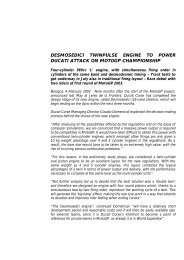 desmosedici twinpulse engine to power ducati attack on ... - Mototribu