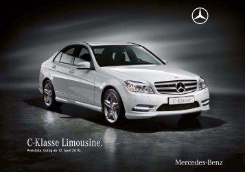 C-Klasse Limousine. - Preislisten