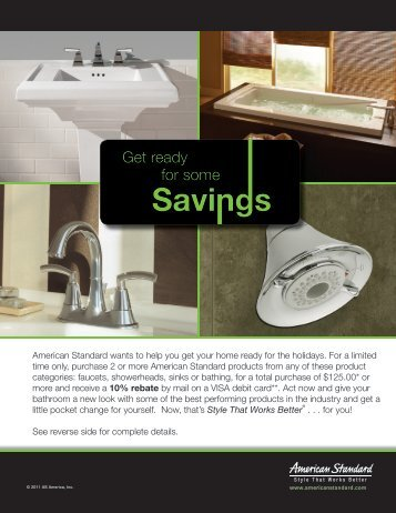 American Standard wants to help you get your home ready for the ...