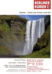 Island - Insel aus Feuer und Eis - Leserreisen
