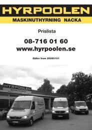 08-716 01 60 www.hyrpoolen.se - Gula Sidorna