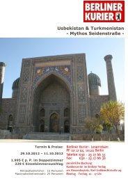 Usbekistan & Turkmenistan - Mythos Seidenstraße - - Leserreisen