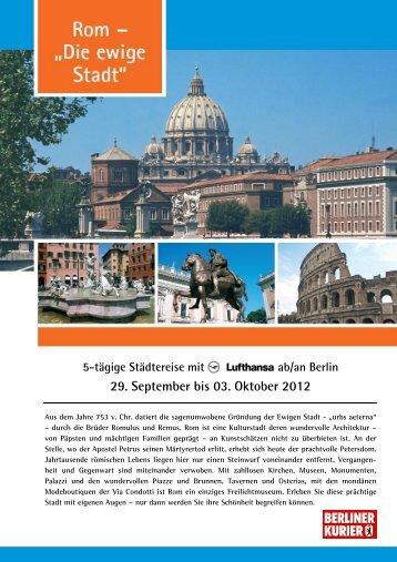 BK_Rom Städtereise_2012_Flyer - Leserreisen
