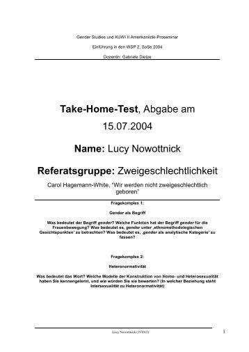 Take home Test Zweigeschlechtlichkeit - fachschaftsinitiative gender ...