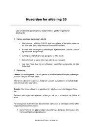Husorden for afdeling 33 - Boligkontoret Aarhus