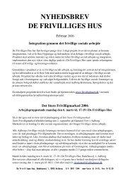 MARTS 2005 - De Frivilliges Hus