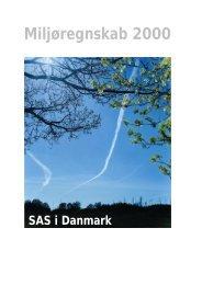 Miljøregnskab 2000 - SAS Group